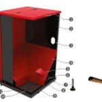 Aufbau FH-500 Pelletsilo mit 500 Liter Volumen